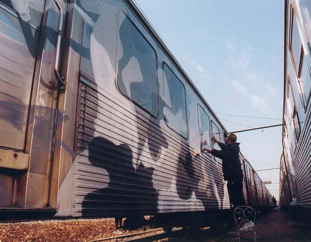 Intervention sur une rame de RER