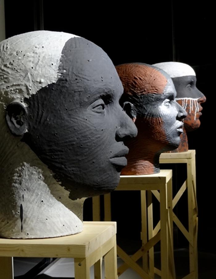 Black Face, Hooded Head, Masked Head