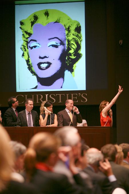 Une vente d'art contemporain @chez Christie's à New York