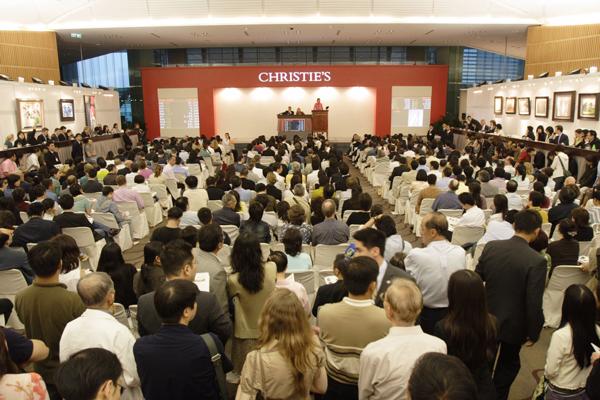 Une vente d'art contemporain @chez Christie's à Hong-Kong