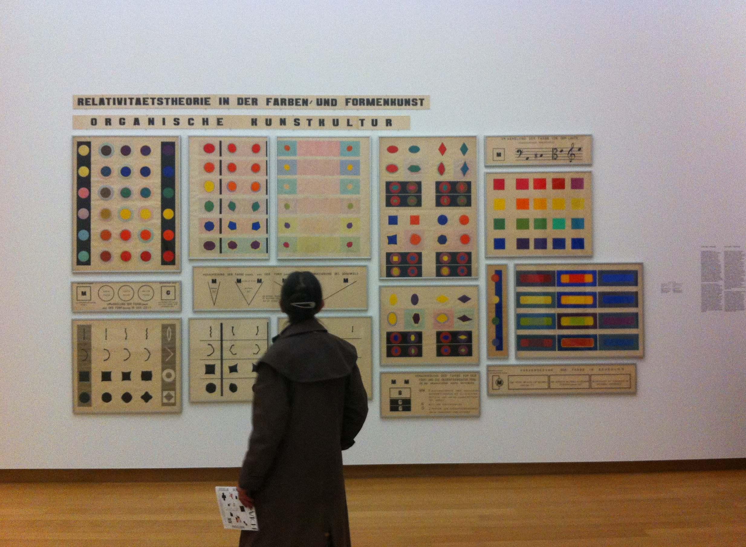 Vue de l'exposition Kasimir Malevitch@et l'Avant-garde russe, au Stedelijk Museum (Amsterdam)