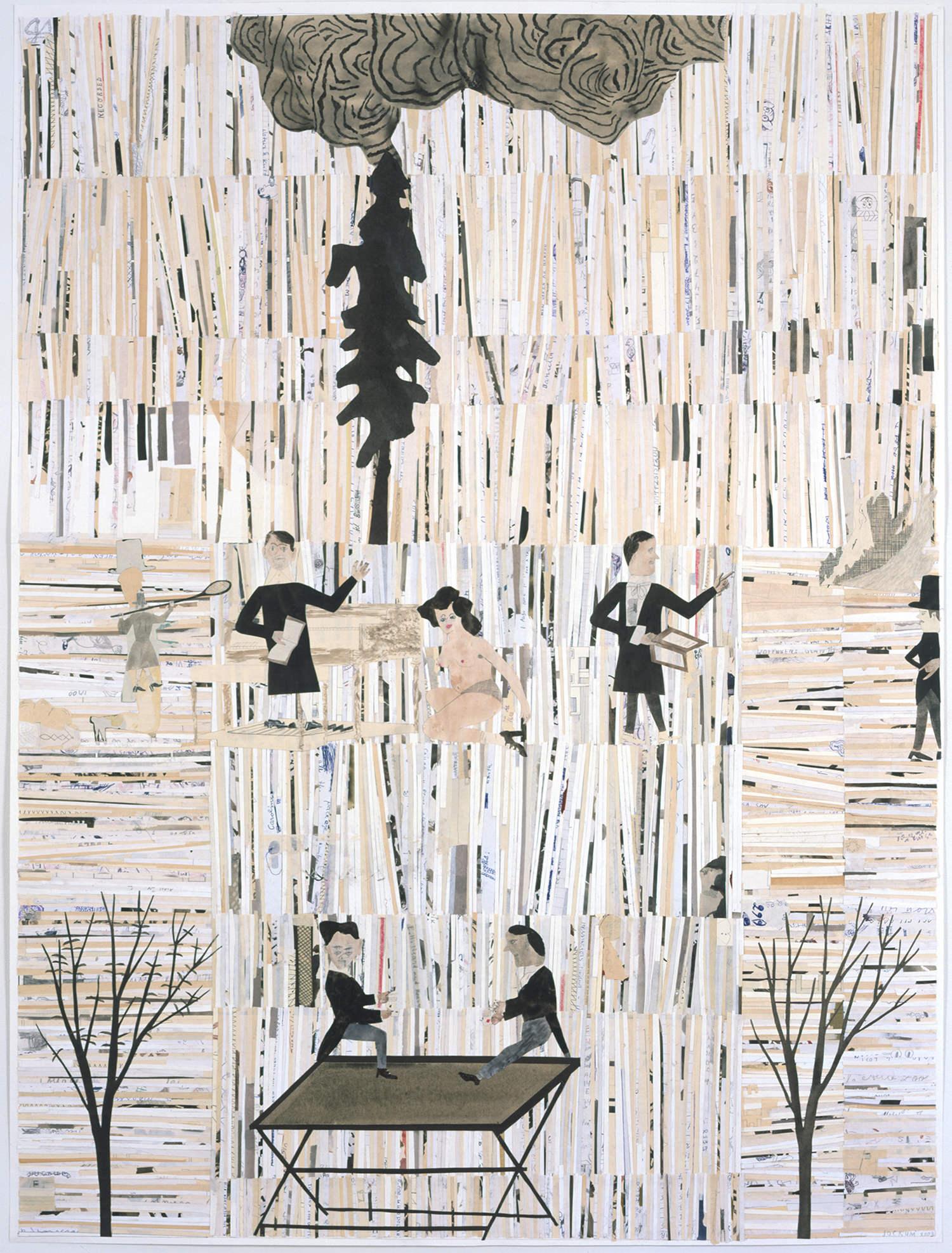 Fakultät (Faculté), technique mixte sur papier@(114.9 x 86.4 cm)