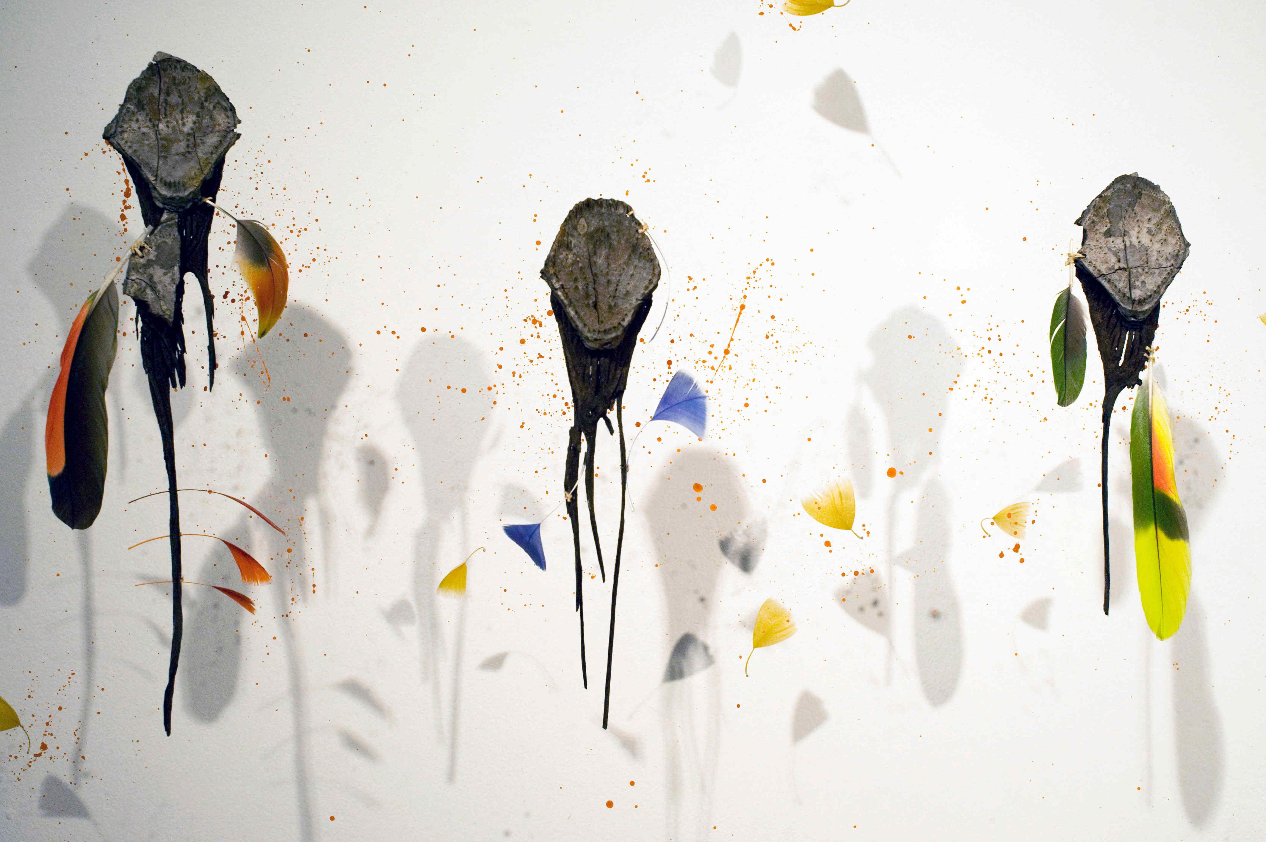 Hommage à Claude Lévi-Strauss@(détail), 80 x 140 x 20 cm