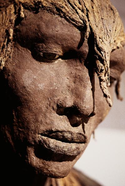 Détail, Guerrier debout, série des Masaï