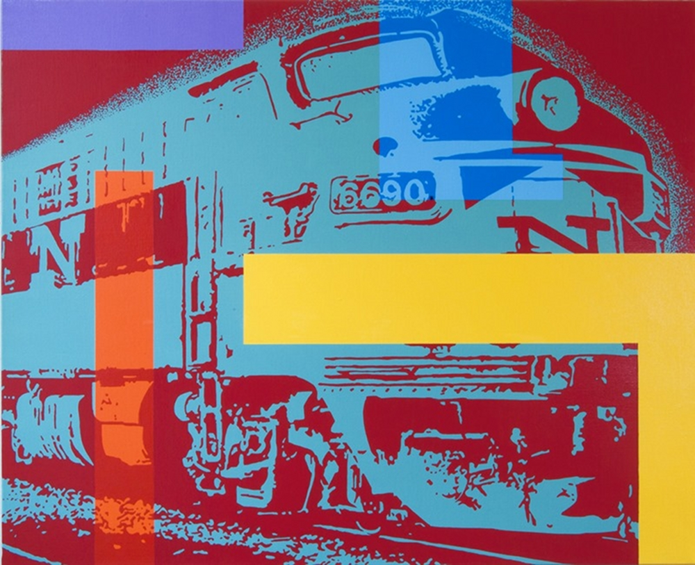 6690, acrylique sur toile@(galerie Baudoin Lebon)