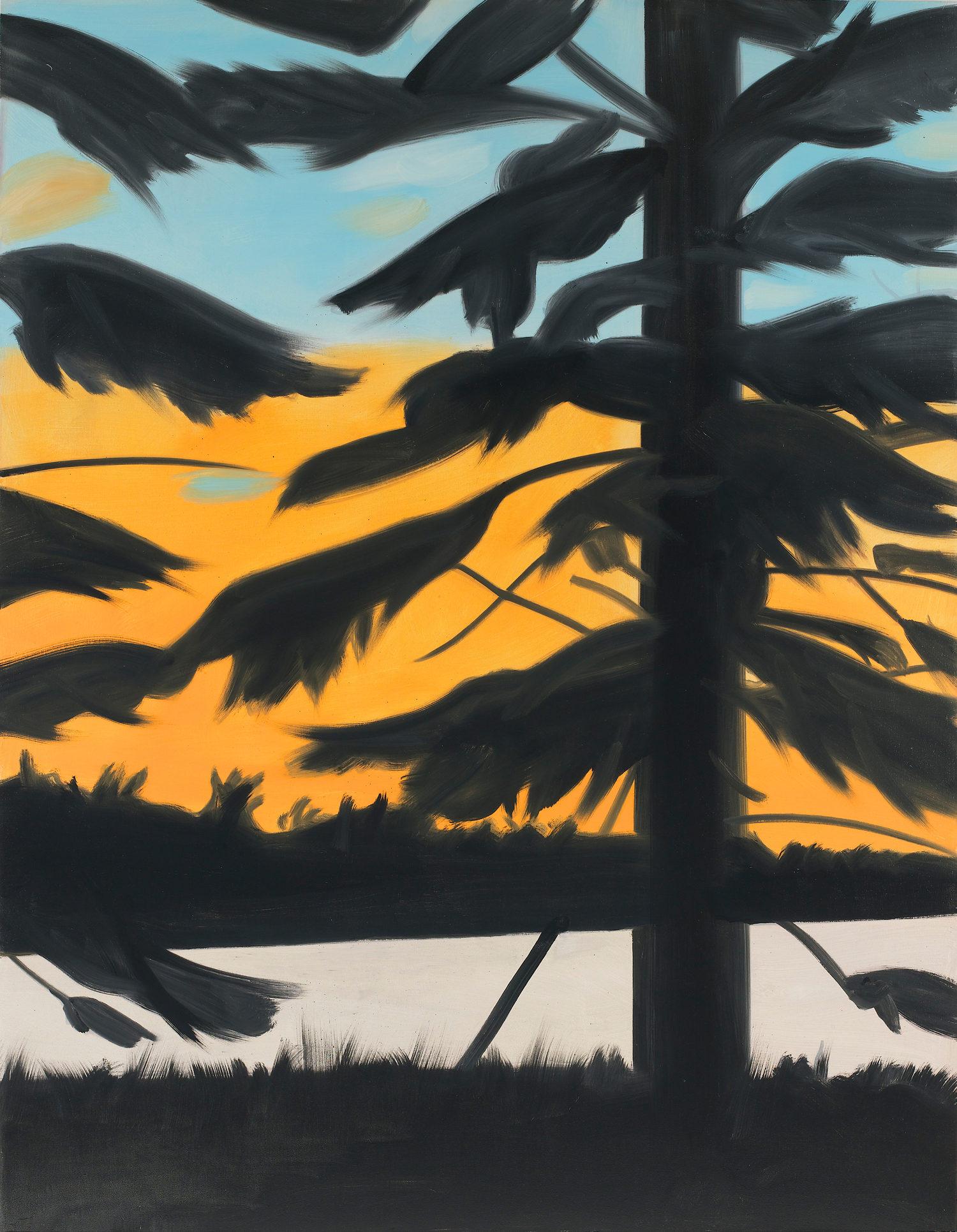 Sunset 1, huile sur lin
