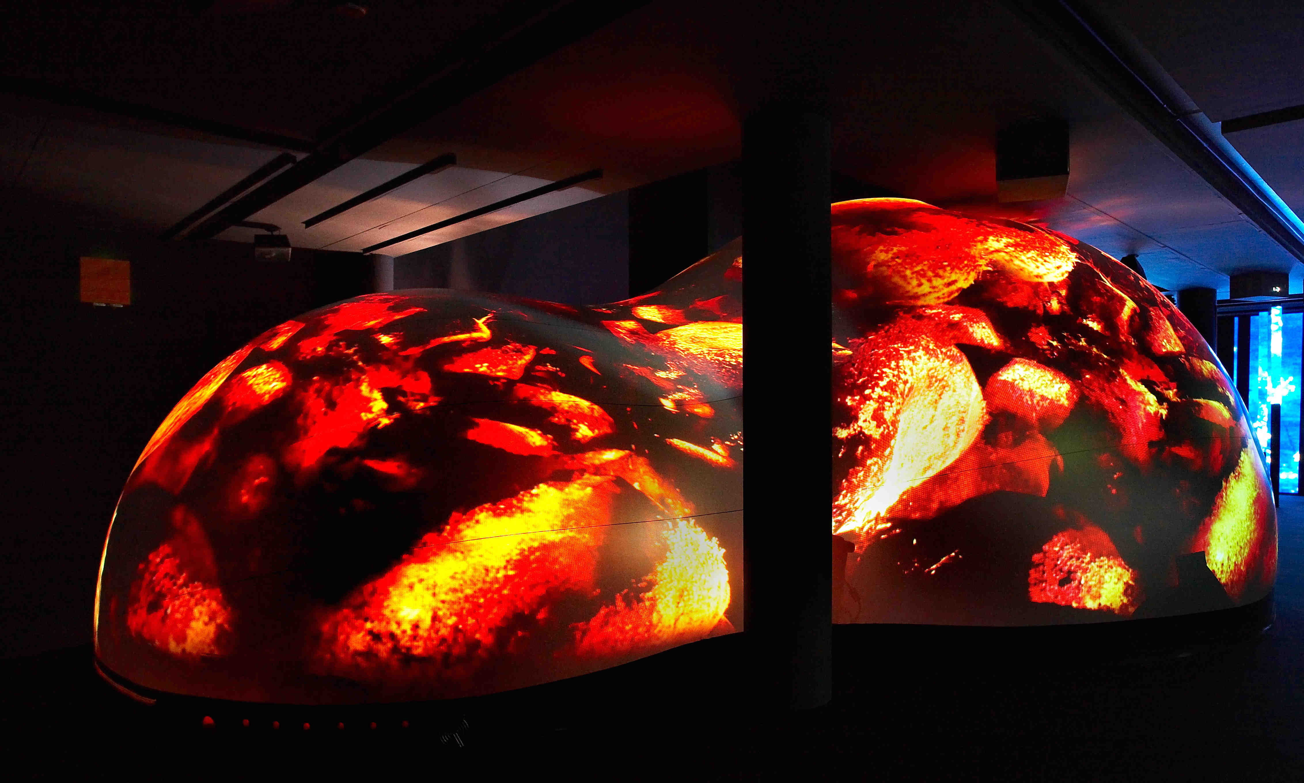 Chaos du feu, installation visuelle et sonore