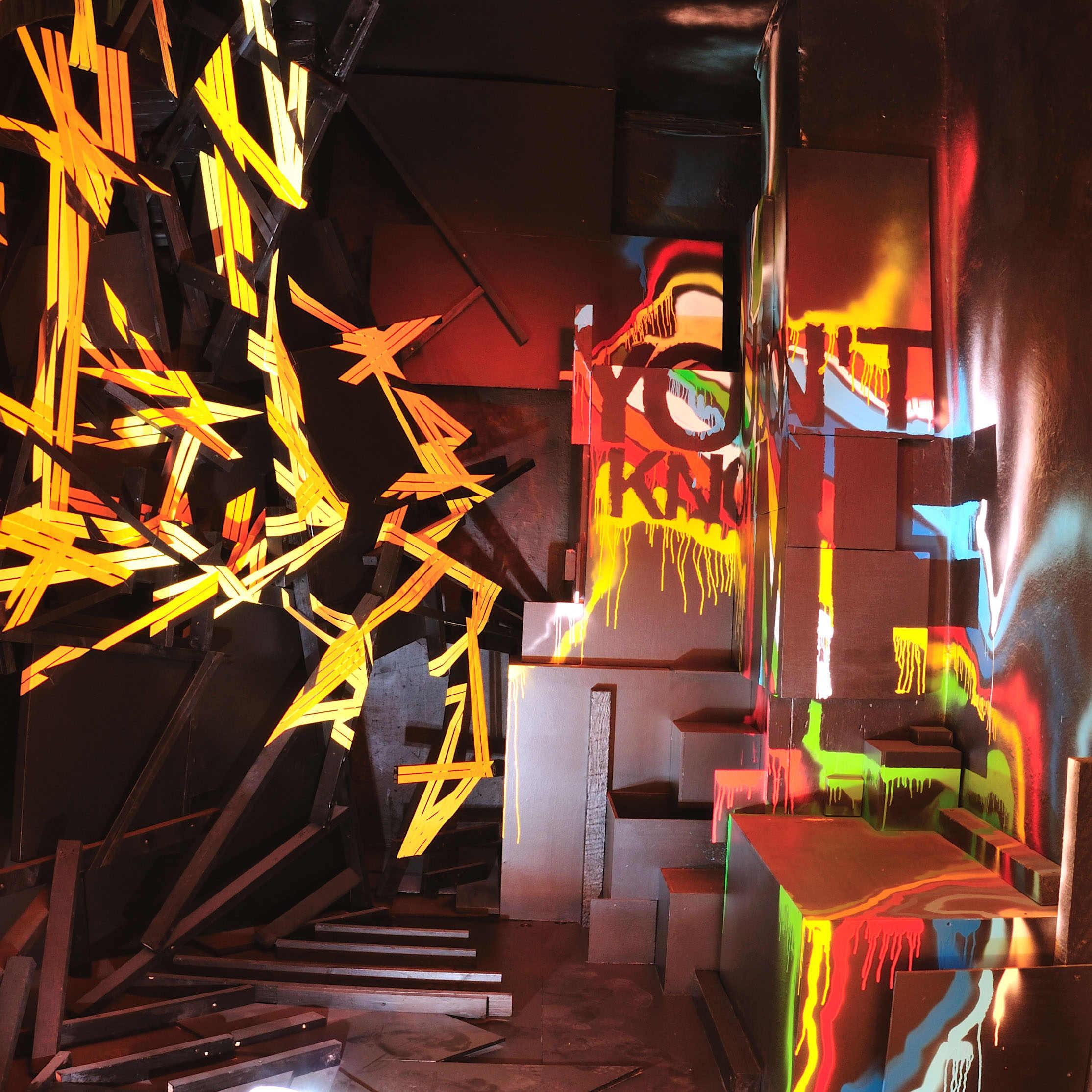 Installation présentée dans le cadre@de l'exposition Etat des lieux, à la galerie du Jour à Paris