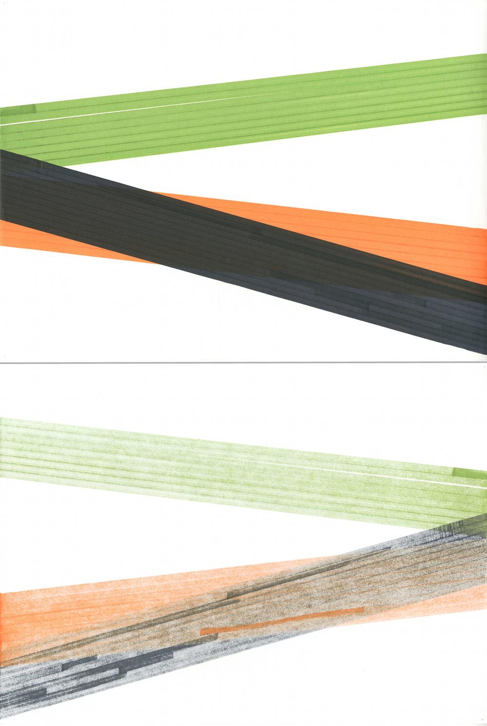 Feutre, feutre sur papier Layout, recto et verso (29,7 x 42 cm)