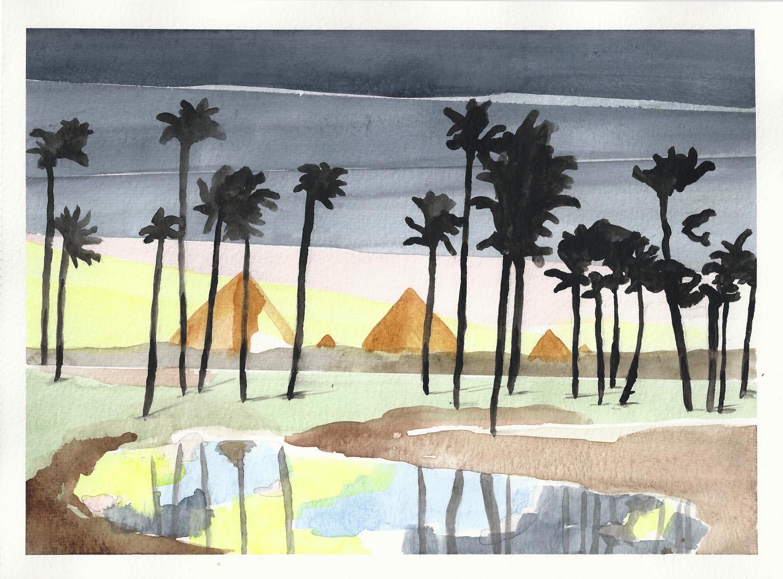 Sans titre 2, aquarelle sur papier (21 x 29.7 cm)