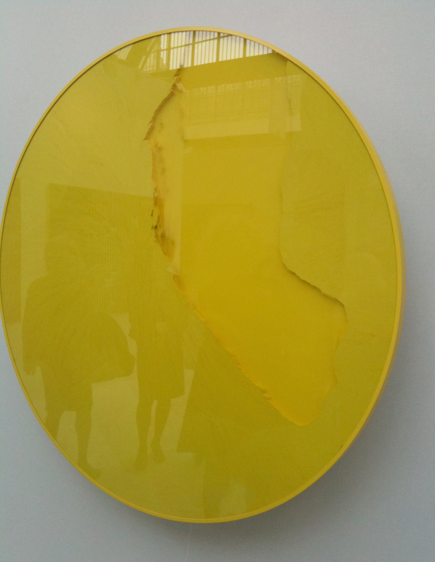 Cercle jaune citron