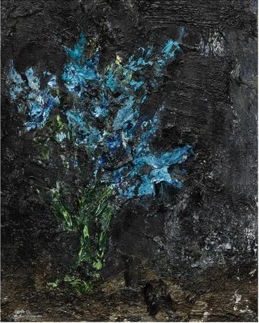 Flowers. Arab Spring, huile sur toile (40 cm x 30 cm)