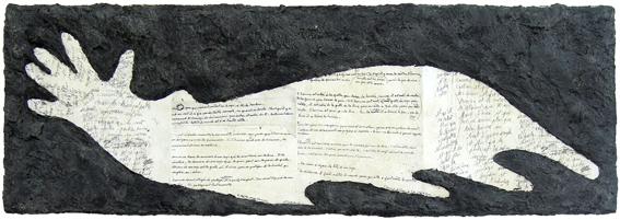 Parantosaure, bois, cire et manuscrits