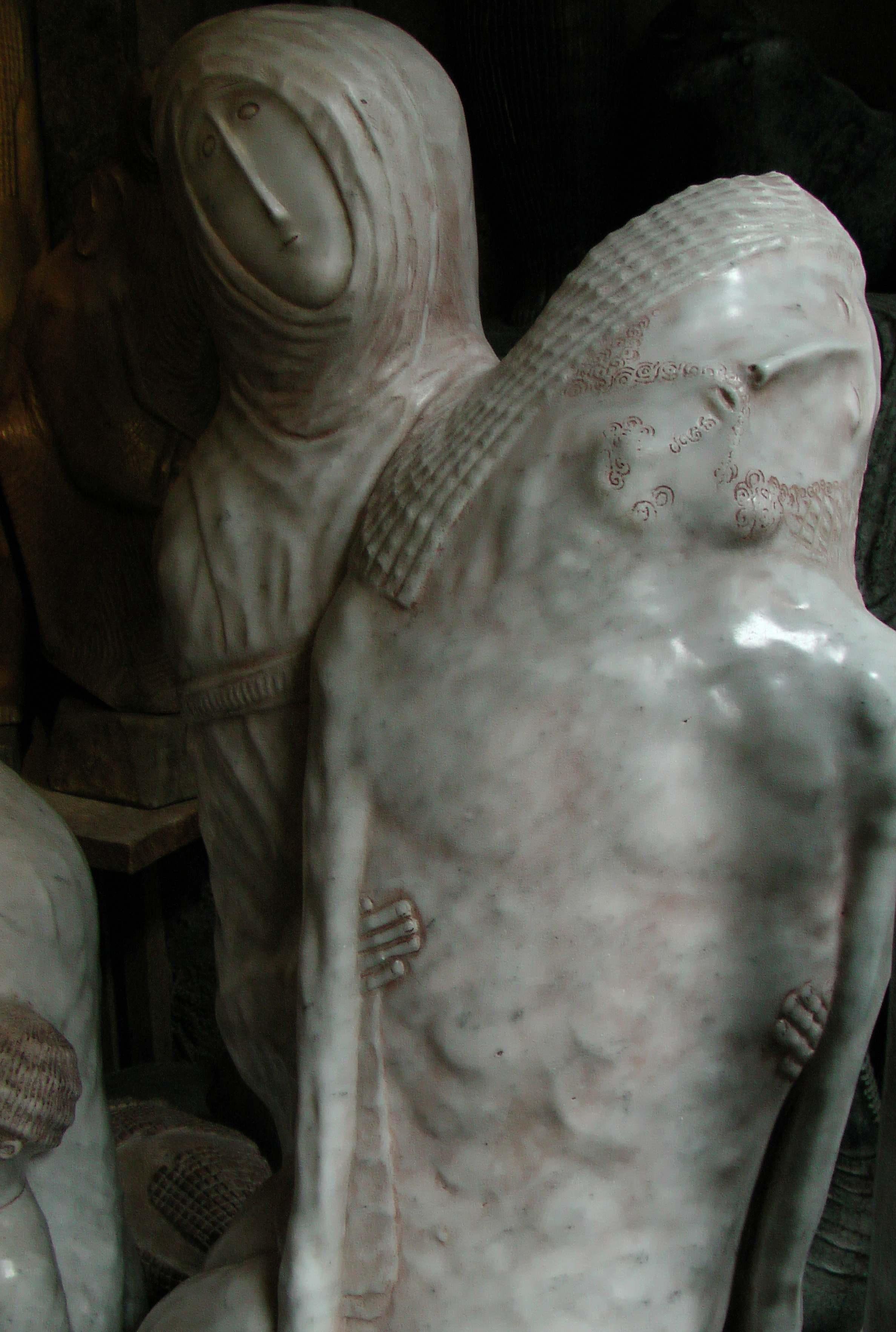Piéta en marbre de Carrare