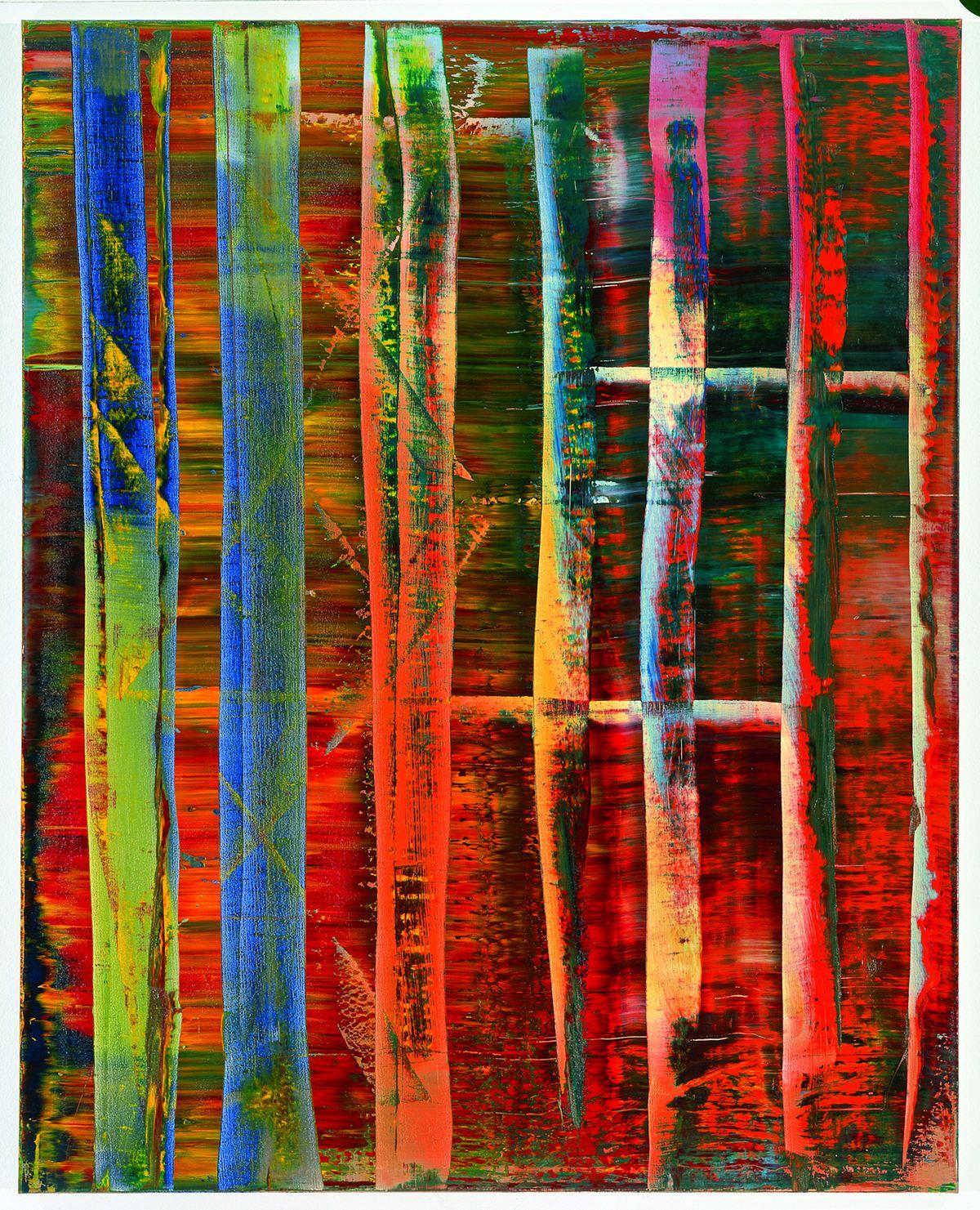 Abstraktes Bild, huile sur toile (200 x 160 cm)
