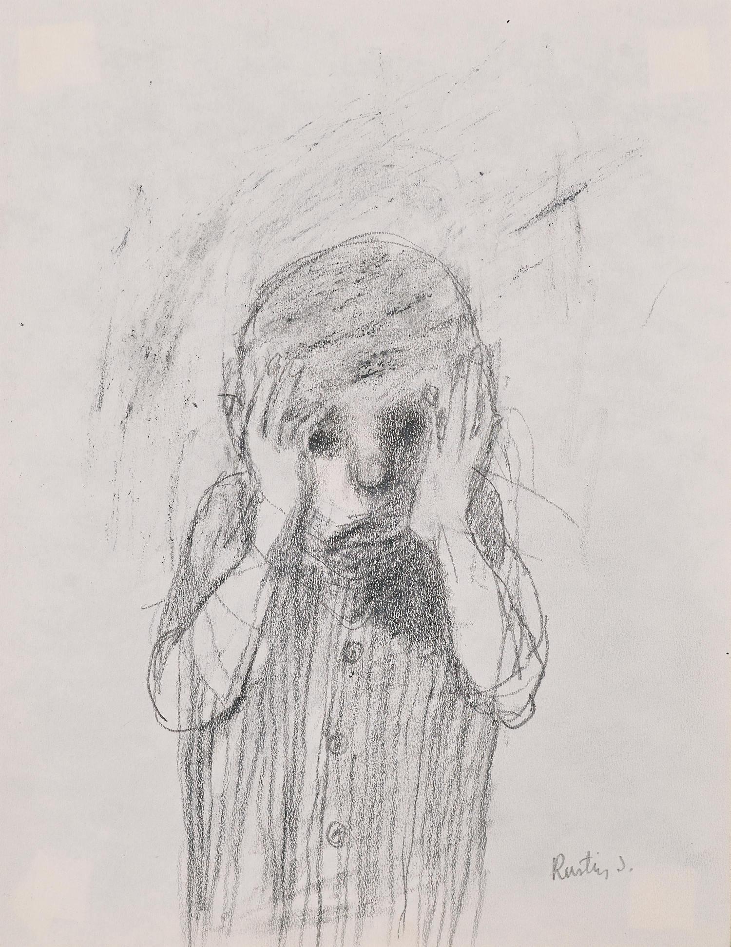 Dessin en couverture@de « Je suis innocent », livre édité par la galerie Béatrice Soulié