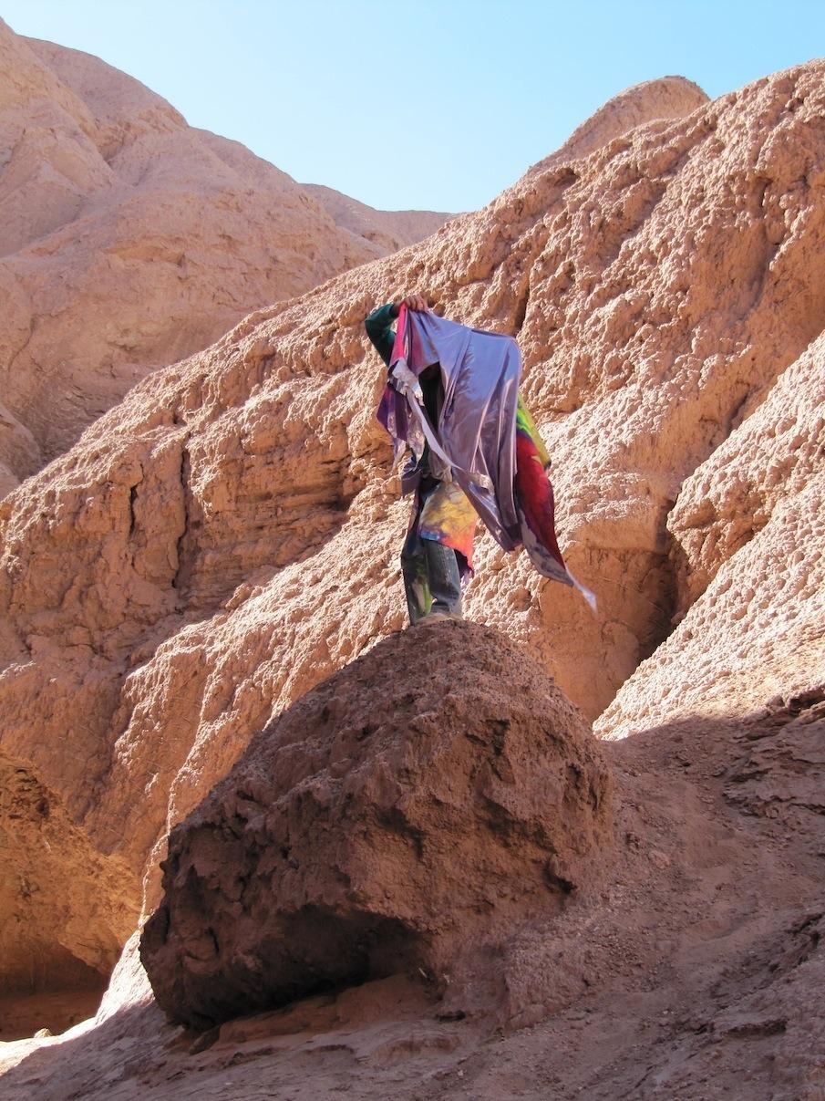 Totem-Magie, performance, Atacama (Chili)