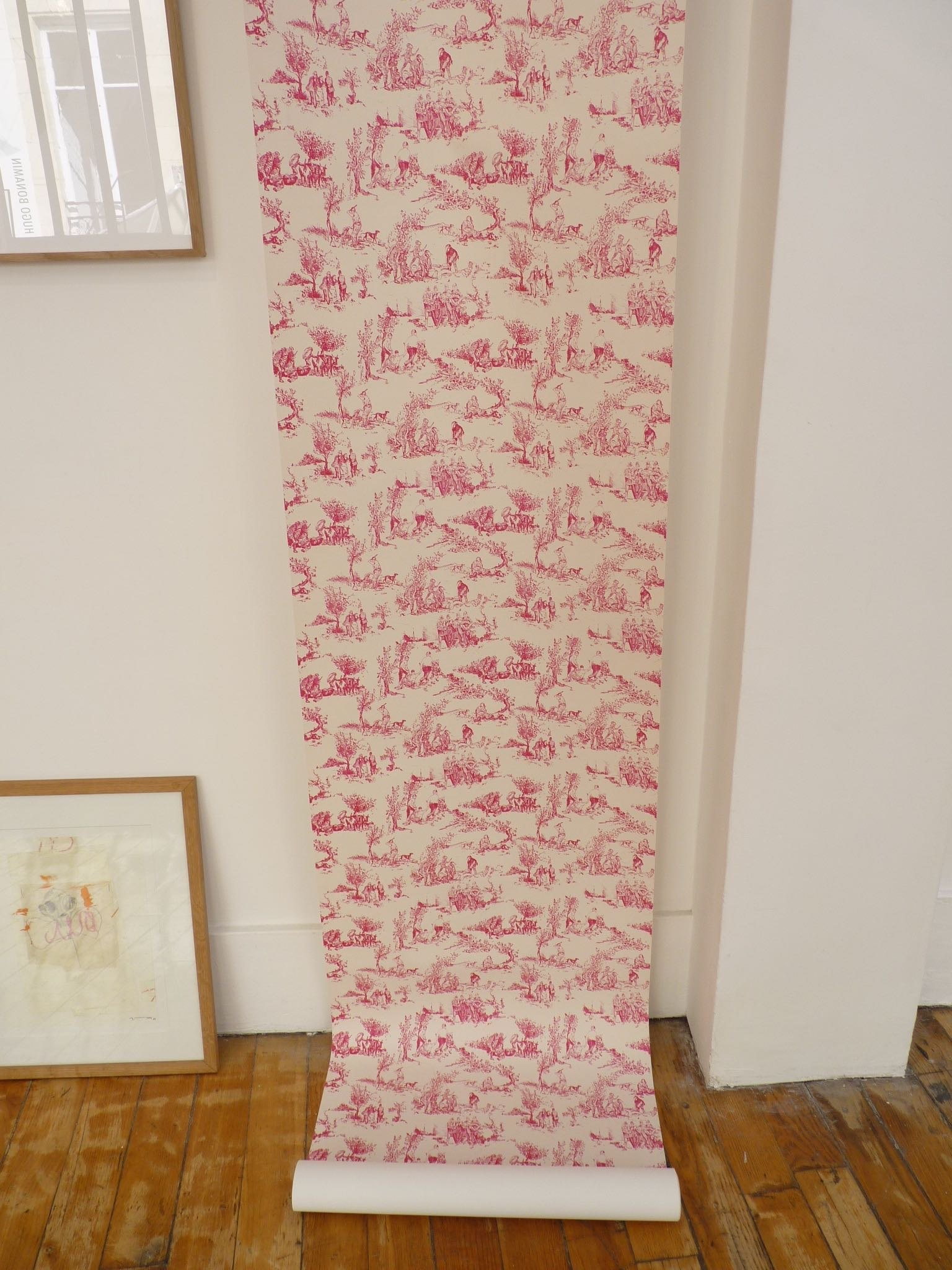 Pastorale, papier peint sérigraphié