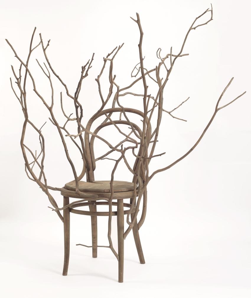 Back to the roots, bois et matières végétales@(pièce présentée à la Villa Empain@de mars à septembre 2014)