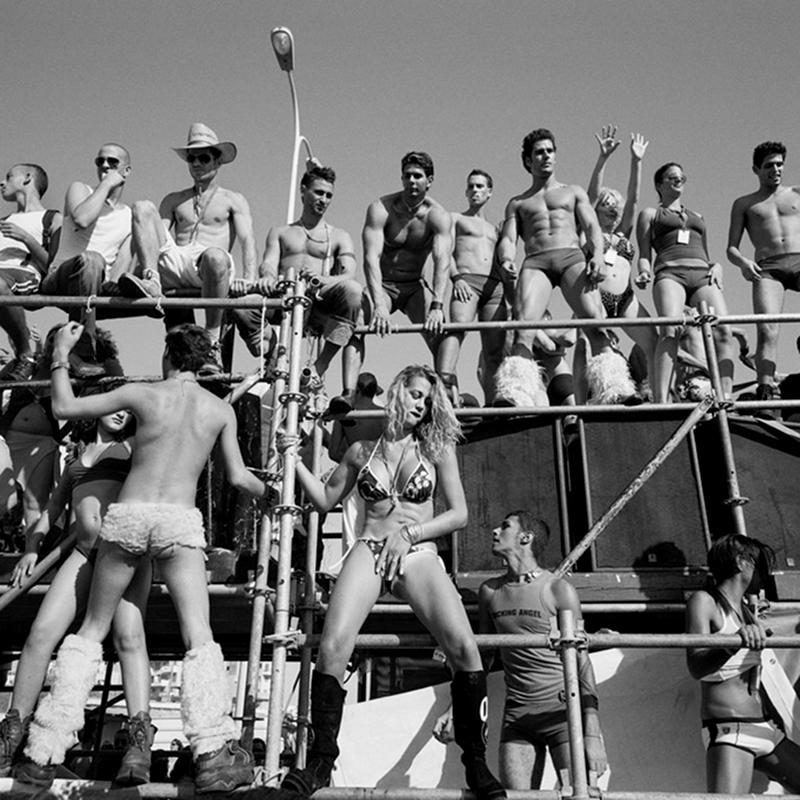 Série Israël Borderline. Love Parade@sur le front de mer@à Tel-Aviv