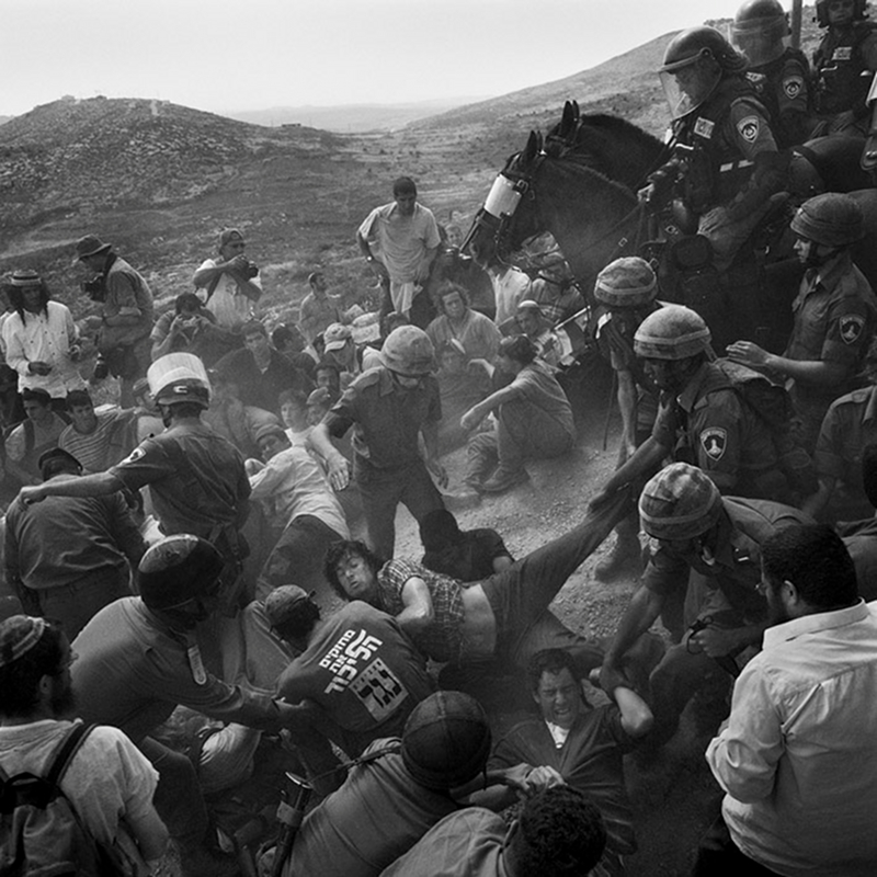 Série Israël Borderline. Evacuation@d'un avant poste@d'une colonie sauvage à Mitspe Itsar